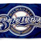 Milwaukee Brewers logo Flag 3x5FT MLB banner150X90CM 100D Polyester