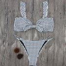 2018 New Summer Women Polka Dot Bikini Set Push-up Padded Bra Swimsuit Swimwear
