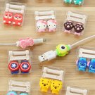 20pcs Cartoon 8 Pin Cable Protector de cabo USB Cable Winder Cover Case For IPhone
