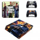 GTA 5 Design PS4 Slim Skin Sticker Cover Decal For Playstation 4 Slim Console And 2 Controller Skins