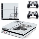 The Witcher 3 Wild Hunt Vinyl Skin Sticker Cover for Sony PS4 PlayStation 4 and 2 controller