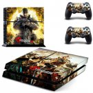Game Gears Of War 3 Vinyl Skin Sticker Cover for Sony PS4 PlayStation 4 and 2 controller