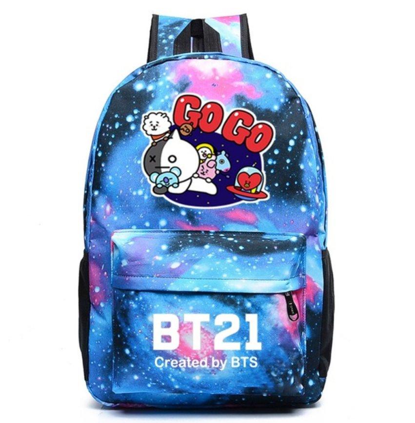 BTS Backpack Galaxy School Bags Bookbag Children Fashion Shoulder Bag Students Backpack