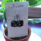 Sterling silver and Glass earrings