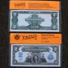 $2 Silver Certificate 1899 UNC Crisp Reproduction New Sealed Retail Dollar Bill (Medium)