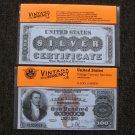 $100 Silver Certificate 1880 UNC Crisp Reproduction New Sealed Retail Dollar Bill (Medium)