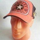 Cap Motorcycle Hat Racing Hat Adjustable Orange/Black
