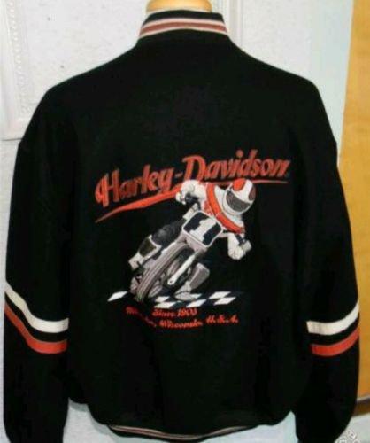 HARLEY DAVIDSON WOOL VARISTY LETTERMAN MOTORCYCLE JACKET XXL