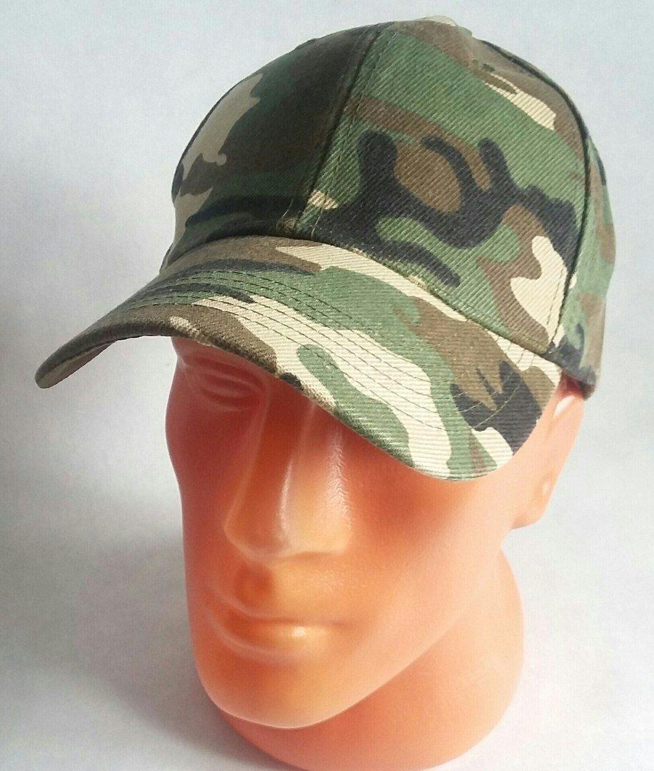 Men Style Sport Baseball Cap New Hat Adjustable Camouflage green