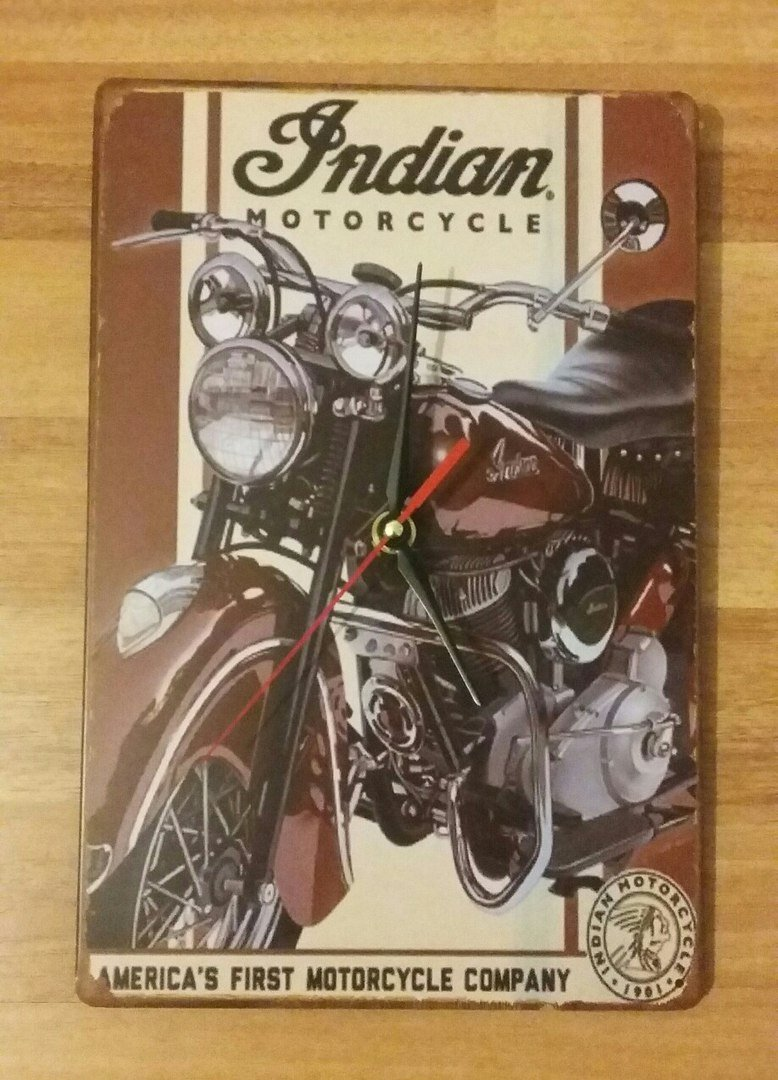Wall clock Indian motorcycle