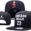 Baseball Cap CHICAGO BULLS 23 NBA Snapback Hat New Black