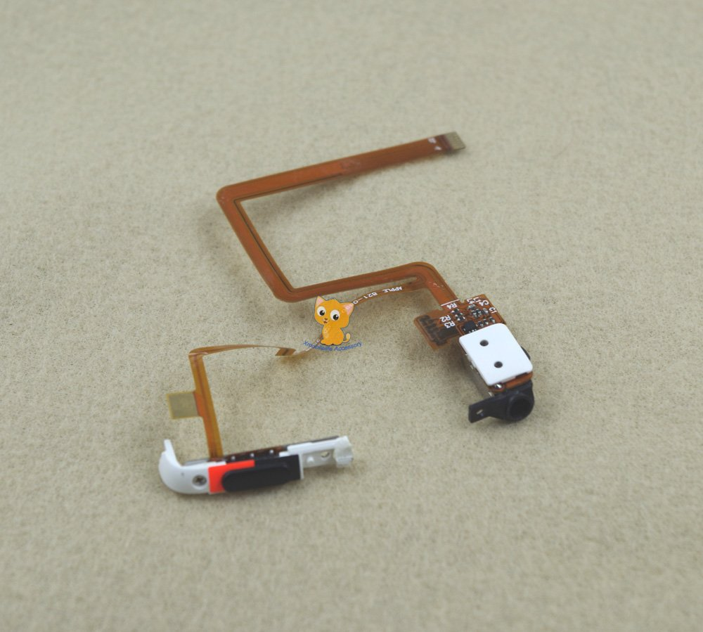 Black Headphone Audio Jack Hold Switch Flex Ribbon Cable for iPod 6th gen Classic 80GB 120GB