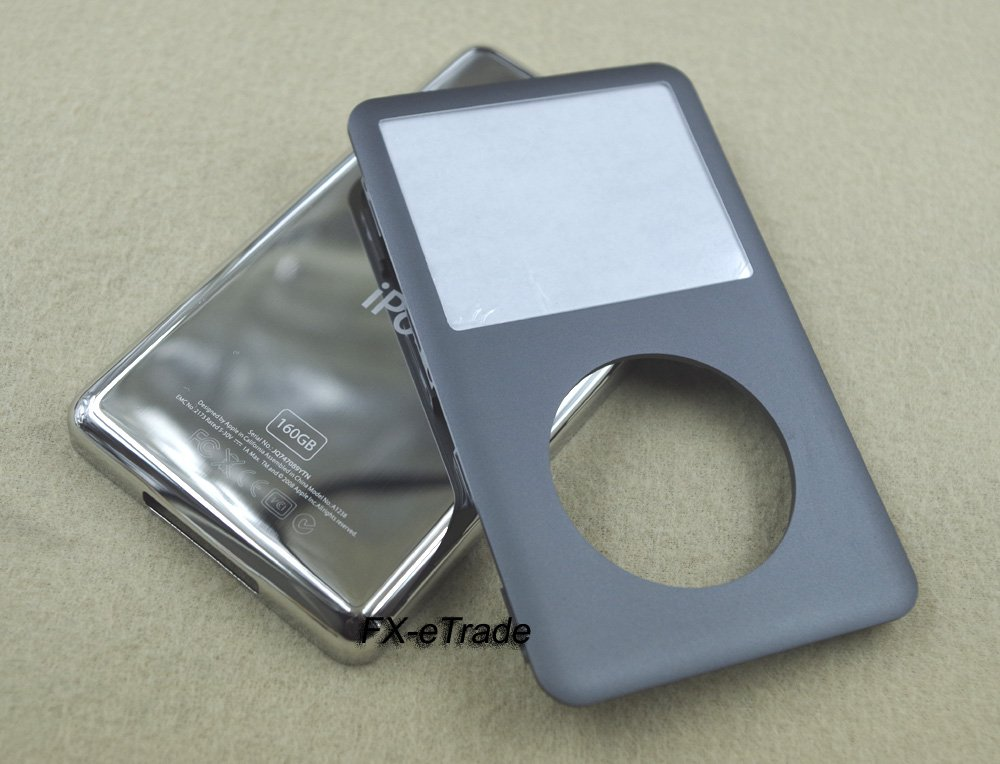 Gray Front Faceplate Cover Back Housing Case Open Tools for iPod 7th gen Classic Thin 160GB