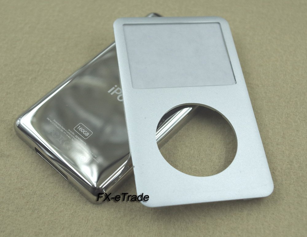 Silver Front Faceplate Cover Back Housing Case Open Tools for iPod 7th gen Classic Thin 160GB