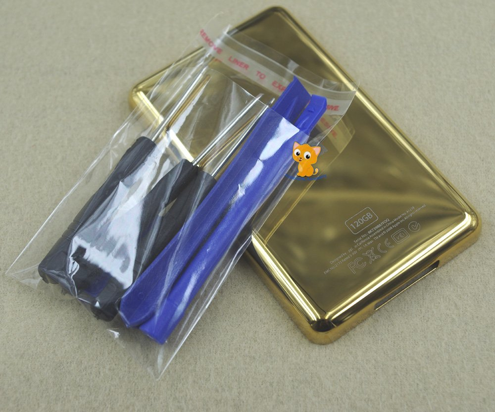 Gold Golden Metal Back Rear Housing Case Cover Shell for iPod 6th gen Classic 120GB