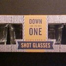 Gentlemen's Down in One Shot Glass Set of 4 Shot Glasses- Great Gift! -Z50DXX