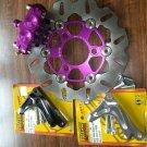 Purple custom HONDA Ruckus 220mm Font brake kit (for use with RRGS forks)