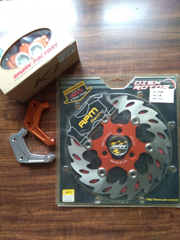 YAMAHA JOG 220mm brake upgrade kit - Shark Factory K1 - RPM RACING