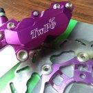 TWPO 220mm Front Brake Upgrade Kit - Purple