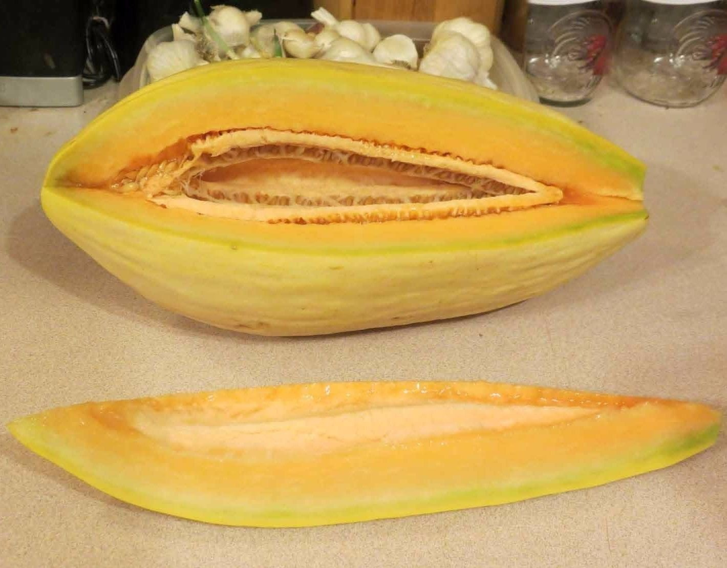 Banana Melon 100 seeds * sweet * easy grow * *SHIPPING FROM US* CombSH H25