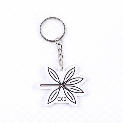 12pcs/lot free shipping exo the war logo keychain