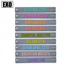 9pcs/lot silicon exo birthday bracelet free shipping