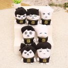 7pcs/lot free shipping bts member ugly cartoon doll plush toy