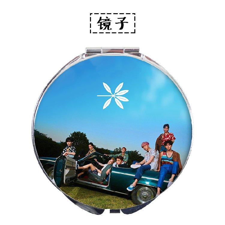 10pcs/lot free shipping exo/bts/twice/blackpink//red velvet/got7 make up mirror