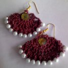 Handmade  Beaded Brown Kuchi earrings