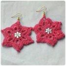 Hand Crocheted star Earring