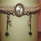 Rustic pearl necklace