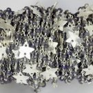 5 Feet Iolite Faceted Star Charm 925 Silver Plated 3.5-4mm Rosary Beaded Chain