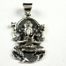 1 Pcs Beautiful Lord Ganesh Design 925 Sterling Silver Black Oxidize Pendant