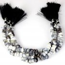 """1 Strand Natural Dendritic Opal Smooth Rondelle 7-9mm Gemstone Beads 8"""" Long"""