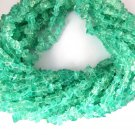 """3 Strands Synthetic Apatite Chips Smooth Hydro Endless 34"""" Uncut Loose Beads"""
