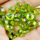 Wholesale 10 Pcs Natural Peridot Round 7mm 15.50Cts Briolette Cut Loose Gemstone