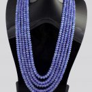 Wholesale 5 Strands Natural Tanzanite Faceted Necklace Beads 510 Cts Size 6-4mm.