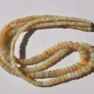 "1 Strand Natural Ethiopian Opal Smooth Rondelle Gemstone Beads 3.5-7mm 16"" Long"
