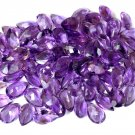Wholesale Lot 25 Pcs Natural Amethyst Pear 13x18.5mm 84Cts Faceted Cut Gemstone