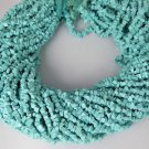 "5 Strand Necklace Making Synthetic Freeform Turquoise Smooth Chips Beads 14""Long"