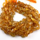 """1 Strand Citrine Gemstone Nuggets Beads Free Size Smooth Cut 13"""" Long Strands"""