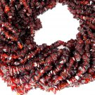 "3 Strands Synthetic Garnet Hydro Endless 34"" Uneven Freeform Chips Loose Beads"