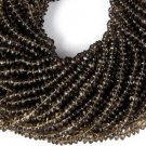 "5 Strands Natural Smoky Quartz Gemstone Rondelle 4-5mm 13.5"" Long Smooth Beads"