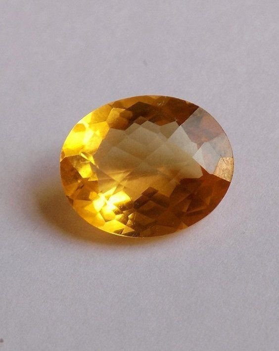 1 Pcs Natural Citrine Oval 10x12mm 4.05Cts Faceted Cut Handamde Loose Gemstone