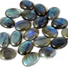 1 Pcs Natural Blue Fire Labradorite Oval 13x18mm 14Cts Cabochon Loose Gemstone