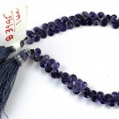 "1 Strand Natural Iolite Faceted Pear Shape Gemstone 6x4mm Briolette Bead 7"" Long"