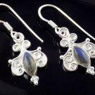 925 Sterling Silver Natural Blue Fire Labradorite Gemstone Earring For Women
