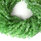 "3 Strands Light Peridot Hydro Gemstone Endless 34"" Uneven Freeform Chips Beads"