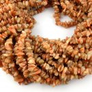 2 Strands Natural Brown Sunstone Gemstone Loose Chips Beads For Jewelry