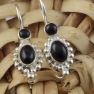 Natural Black Onyx Gemstone 925 Sterling Silver Cut Stone Handmade Women Earring